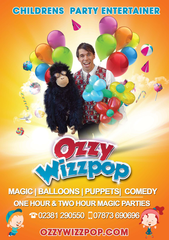 childrens birthday parties ozzy wizzpop